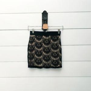 Eyelash lace skirt sz XS